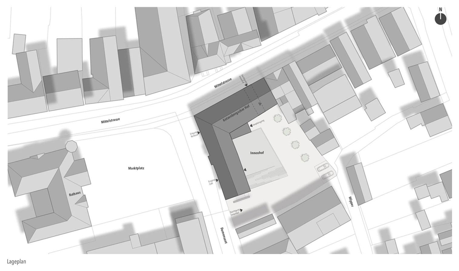 Lageplan architektur